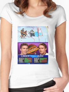Vancouver Canucks Arcade Shirt  Women's Fitted Scoop T-Shirt