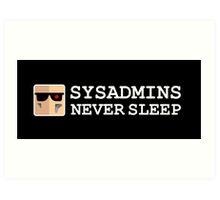 sysadmin never sleep term edition Art Print