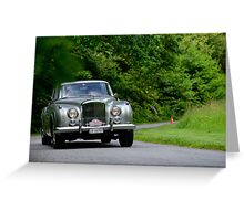 The Three Castles Welsh Trial 2014 - Bentley Continental S2 Greeting Card