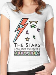 BOWIE-STARMAN Women's Fitted Scoop T-Shirt