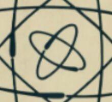 Vintage Physics Atom Sticker