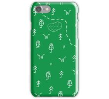 Topographic map pattern iPhone Case/Skin