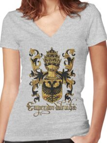 Emperor of Germany Coat of Arms - Livro do Armeiro-Mor Women's Fitted V-Neck T-Shirt