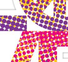 LOVE Peace Color Halftone Sticker