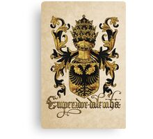 Emperor of Germany Coat of Arms - Livro do Armeiro-Mor Canvas Print
