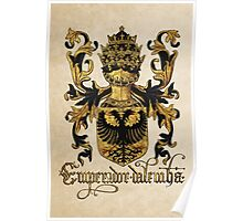 Emperor of Germany Coat of Arms - Livro do Armeiro-Mor Poster