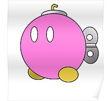 Paper Mario Style Pink Bob-Omb Poster