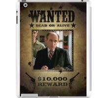Buffy Principal Snyder Wanted iPad Case/Skin
