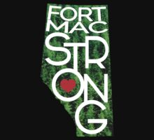 Fort Mac Strong - Alberta Wildfire Support One Piece - Short Sleeve
