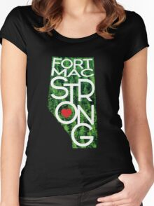 Fort Mac Strong - Alberta Wildfire Support Women's Fitted Scoop T-Shirt