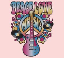 Peace, Love and Music Kids Tee