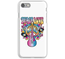 Peace, Love and Music iPhone Case/Skin