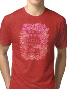 Little & Fierce – Pink Ombré Tri-blend T-Shirt