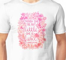 Little & Fierce – Pink Ombré Unisex T-Shirt