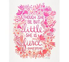 Little & Fierce – Pink Ombré Photographic Print