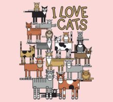 I Love Cats One Piece - Long Sleeve