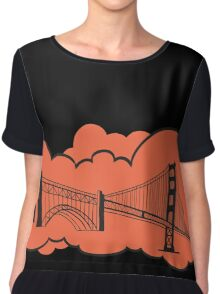 Golden Gate Bridge San Francisco Chiffon Top