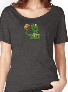 Kermit Tea None of My Business with Cavs Logo Women's Relaxed Fit T-Shirt