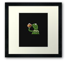 Kermit Tea None of My Business with Cavs Logo Framed Print