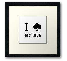 Spade My Dog Framed Print