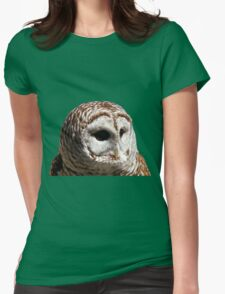 Barred Owl #1 Womens Fitted T-Shirt