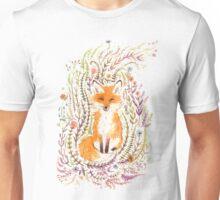 Fox and Flowers II Unisex T-Shirt