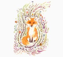 Fox and Flowers II Unisex T-Shirt