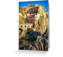 Manarola Afternoon Cinque Terre Italy Greeting Card