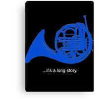 A Long Story Canvas Print