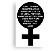 Margaret Sanger - Woman of today arises Canvas Print