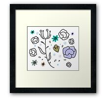 """Floral Metamorphosis"" - Just Original Artistic Piece! Framed Print"