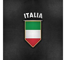 Italy Pennant with high quality leather look Photographic Print