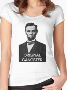 Abraham Lincoln Orignal Gangster Women's Fitted Scoop T-Shirt