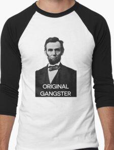 Abraham Lincoln Orignal Gangster Men's Baseball ¾ T-Shirt