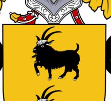 Cabrera Coat of Arms/Family Crest Sticker