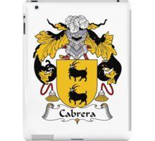 Cabrera Coat of Arms/Family Crest iPad Case/Skin