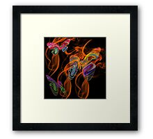 Butterfly Night Life Framed Print