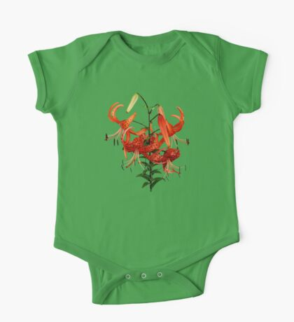Tiger Lilies One Piece - Short Sleeve
