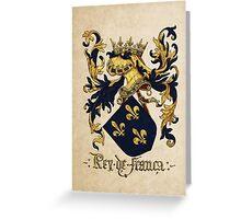 King of France Coat of Arms - Livro do Armeiro-Mor Greeting Card