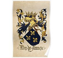 King of France Coat of Arms - Livro do Armeiro-Mor Poster
