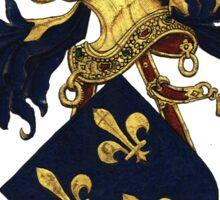 King of France Coat of Arms - Livro do Armeiro-Mor Sticker