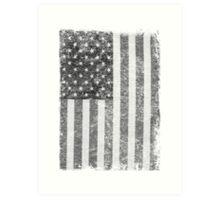 Big Black US Flag  Art Print