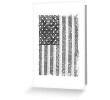 Big Black US Flag  Greeting Card