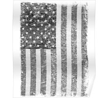 Big Black US Flag  Poster