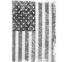 Big Black US Flag  Photographic Print