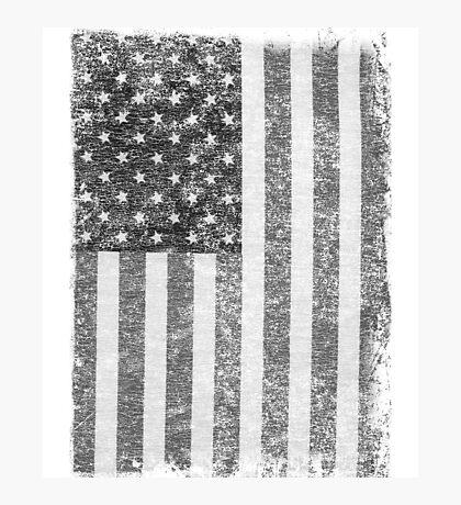 Big Black US Flag  Photographic Print