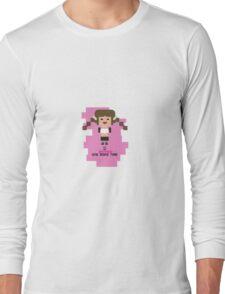 Britney Spears BOMT 8-bit in pink Long Sleeve T-Shirt