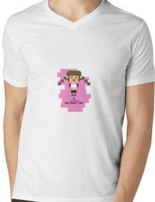Britney Spears BOMT 8-bit in pink Mens V-Neck T-Shirt