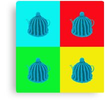 Pop art tea cosy Canvas Print