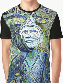 Buddha Asks Why (blue) Graphic T-Shirt